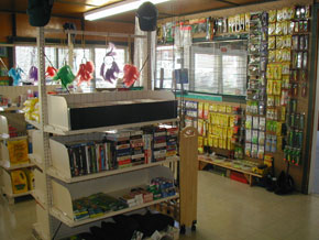 Store with racks and tackle